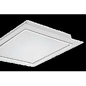 چراغ فلورسنتی توکار مازی نور مدل ژوپیتر با صفحه اکریلیک شیری ساتن – مناسب سقف سازه پنهان