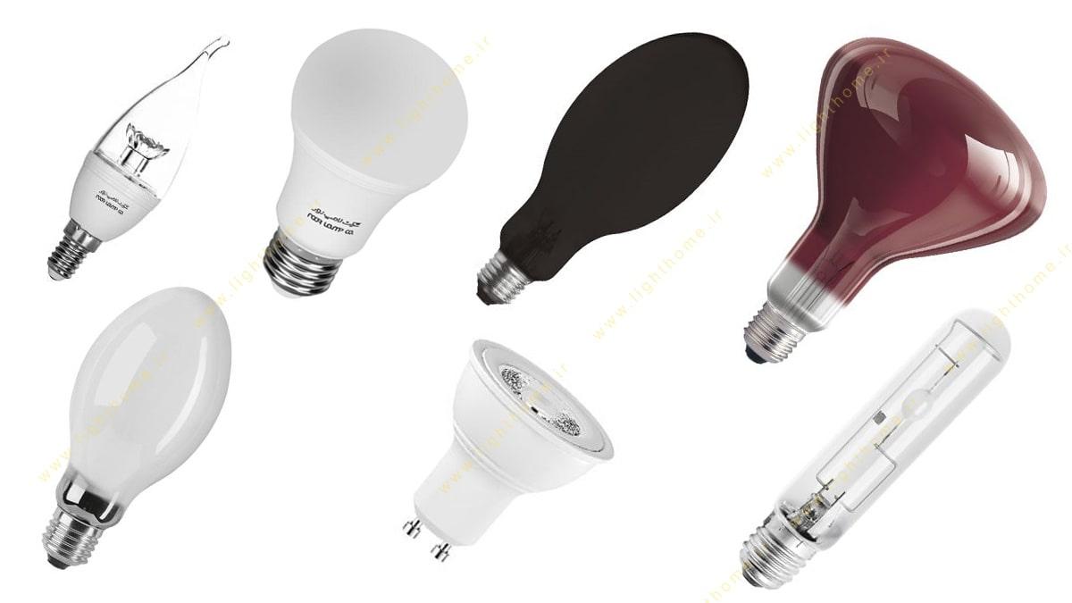 انواع لامپ نور