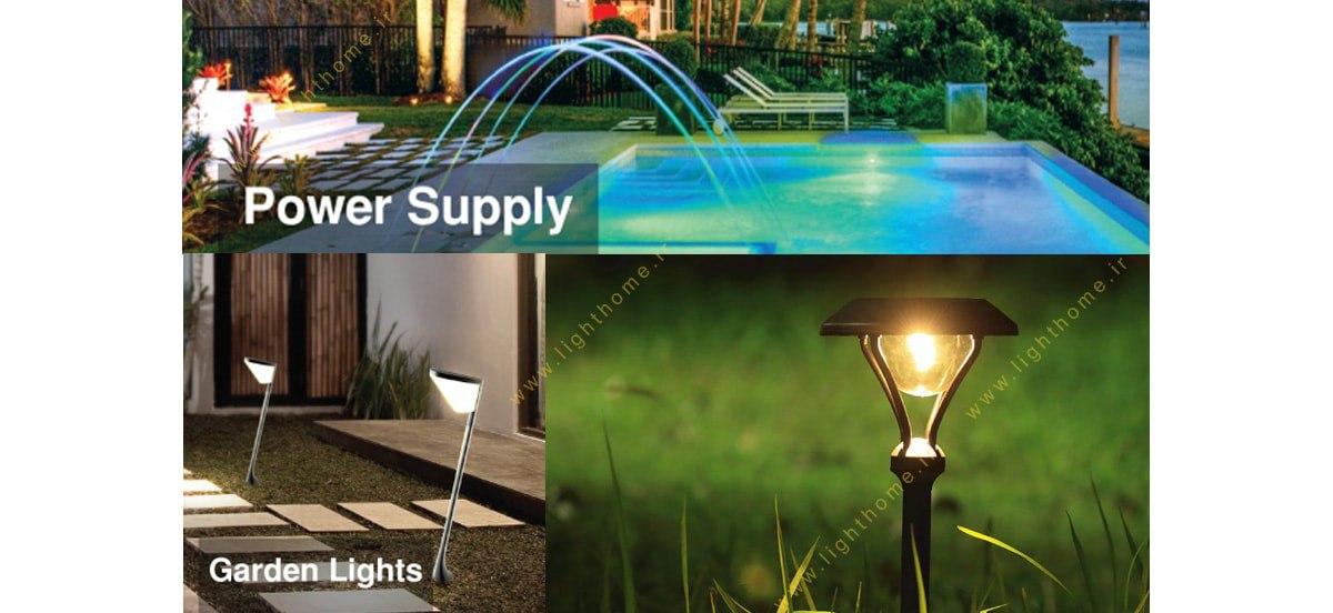 چراغ های حیاطی و پارکی شعاع الکتریک