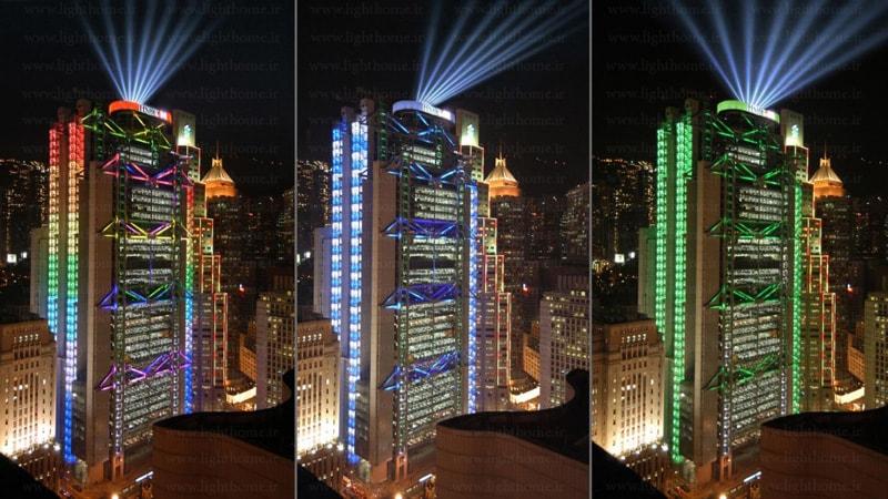 نورپردازی نمای ساختمان - نورپردازی ساختمان