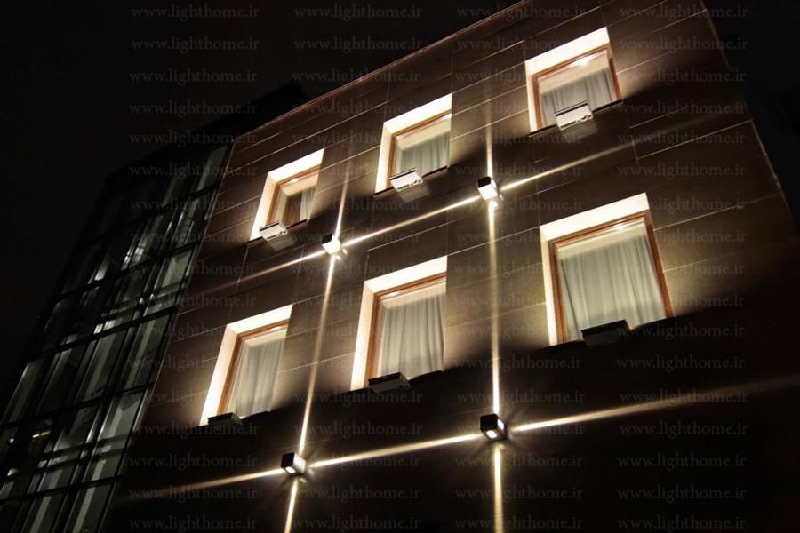 نورپردازی نمای ساختمان - چراغ دکوراتیو مناسب نورپردازی نمای ساختمان