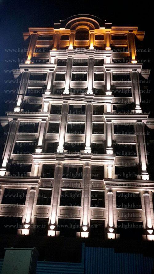 نورپردازی ساختمان - نورپردازی نما - نورپردازی نمای ساختمان