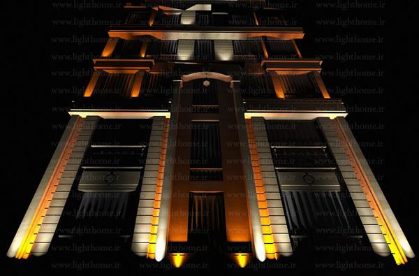 نورپردازی ساختمان - نورپردازی نما - تامین روشنایی نما