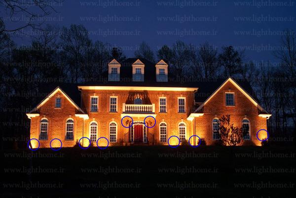 نورپردازی نمای ساختمان - نورپردازی نما ساختمان