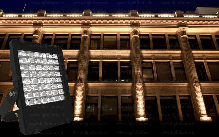 پروژکتور نورپردازی نمای ساختمان - نورپردازی نمای ساختمان با پروژکتور دست ساز- پروژکتور ال ای دی سفارشی لایت هوم
