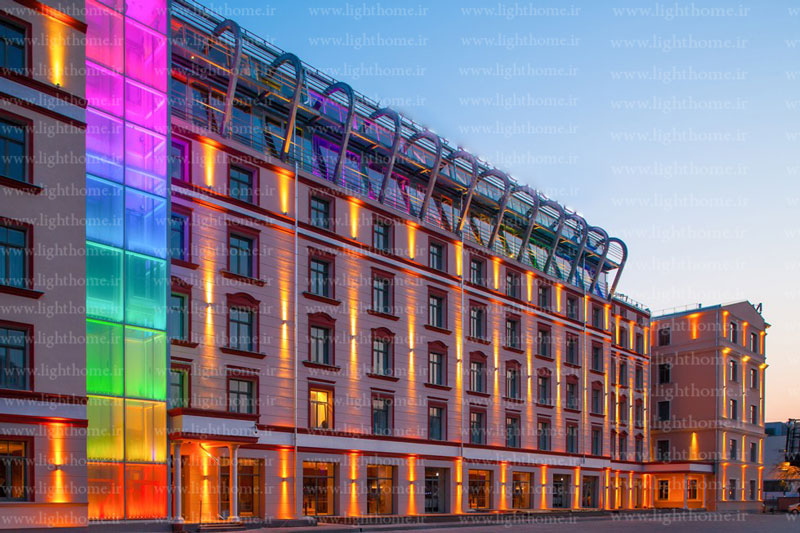 چراغ دکوراتیو نورپردازی نما - نورپردازی نمای ساختمان با چراغ دکوراتیو