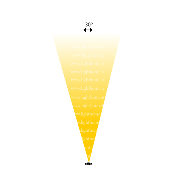 وال واشر با لنز 30 درجه - نورپردازی نما با لنز 30 درجه