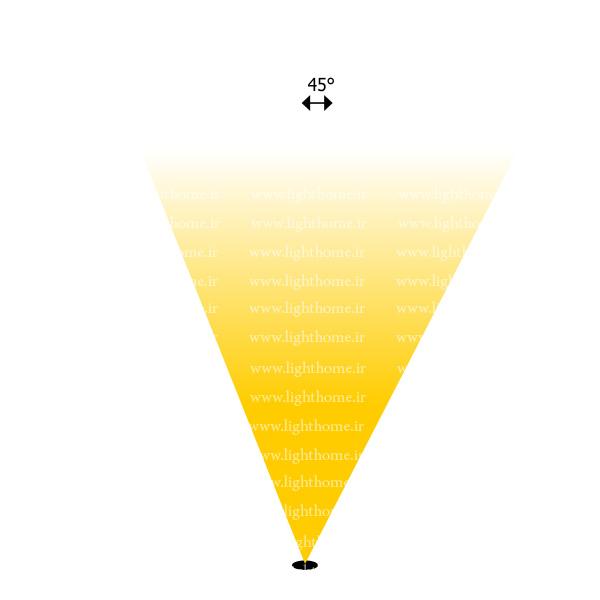 وال واشر با لنز 45 درجه - نورپردازی نما با لنز 45 درجه - نورپردازی نمای ساختمان