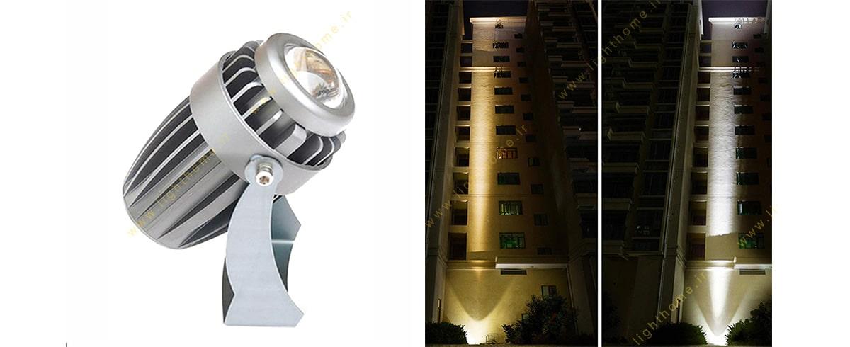 نورپردازی نمای ساختمان با جت لایت
