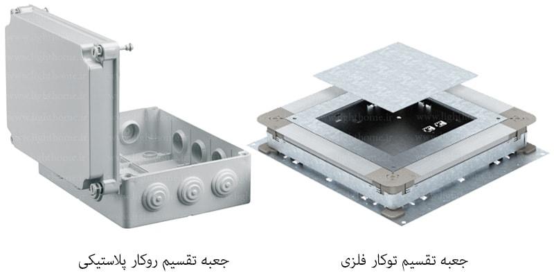 جعبه تقسیم روکار - جعبه تقسیم توکار - جعبه تقسیم پلاستیکی