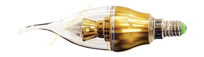 لامپ شمعی پایه طلایی 5 وات EDC