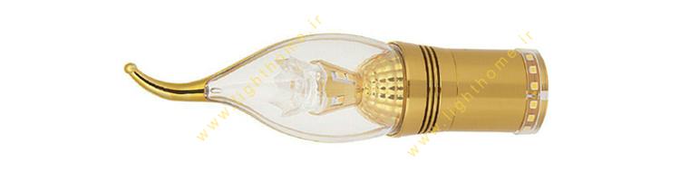 لامپ شمعی پایه طلایی 7 وات سه حالته EDC