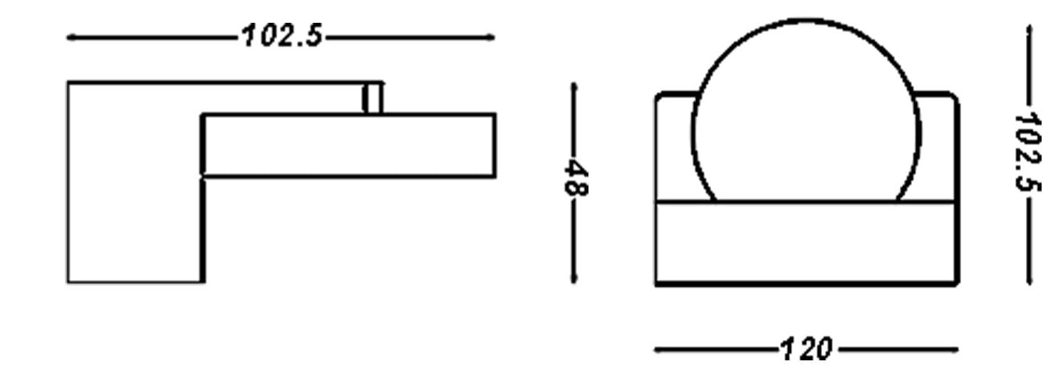 چراغ دیواری 5 وات تک شعله هورسان مدل C195