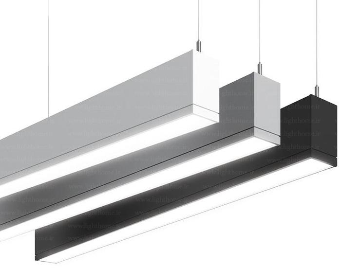 چراغ های خطی - چراغ خطی - آویز خطی ال ای دی - چراغ سقفی خطی