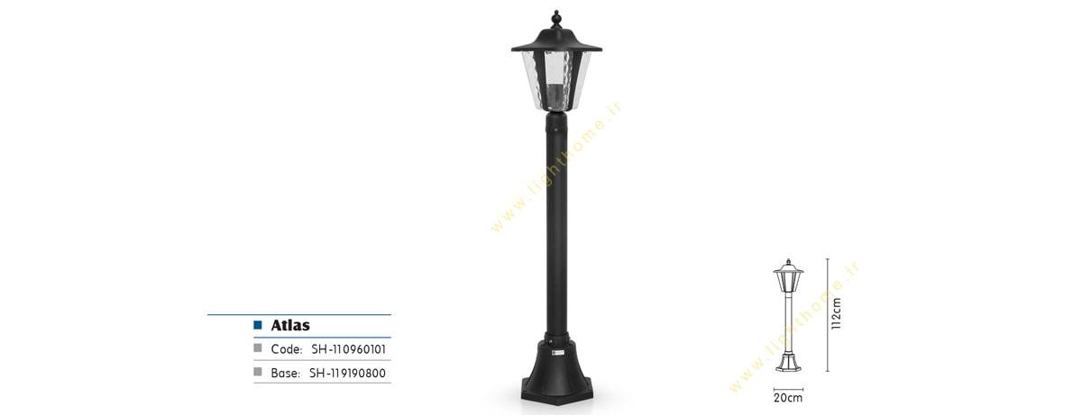 چراغ سر لوله E27 شب تاب مدل اطلس SH-110960101