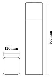 چراغ باغچه ای و پارکی شعاع مدل SH-12401 - چراغ باغچه ای و حیاطی شعاع مدل SH-12401