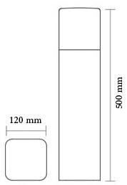 چراغ باغی و باغچه ای شعاع مدل SH-12402 - چراغ حیاطی و باغچه ای شعاع مدل sh-12402