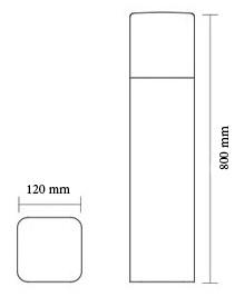 چراغ پارکی و حیاطی شعاع مدل SH-12403 - چراغ باغی و باغچه ای شعاع مدل sh-12403