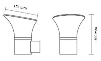 چراغ باغی و باغچه ای 30 سانتیمتری شعاع مدل sh-1405