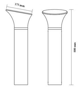 چراغ حیاطی و باغچه ای شعاع مدل sh-1406 - چراغ باغچه ای شعاع مدل 1406