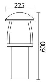 چراغ باغچه ای شعاع مدل sh-4504 - چراغ باغچه ای 4504 شعاع