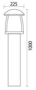 چراغ باغچه ای شعاع مدل SH-4509 - چراغ باغی و باغچه ای 4509 شعاع