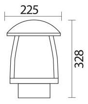 چراغ سرلوله پارکی شعاع مدل SH-4503 - سرلوله پارکی شعاع مدل sh-4503