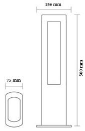 چراغ پارکی و حیاطی ال ای دی 9 وات شعاع مدل sh-15402