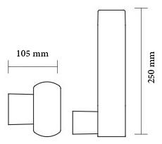 چراغ دیواری پارکی ال ای دی 9 وات شعاع مدل SH-15404