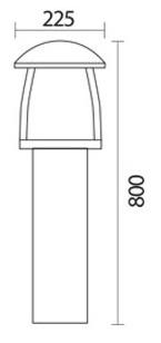 چراغ باغچه ای شعاع مدل sh-4506