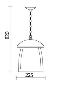 آویز پارکی شعاع مدل sh-4505 - چراغ آویز شعاع مدل 4505