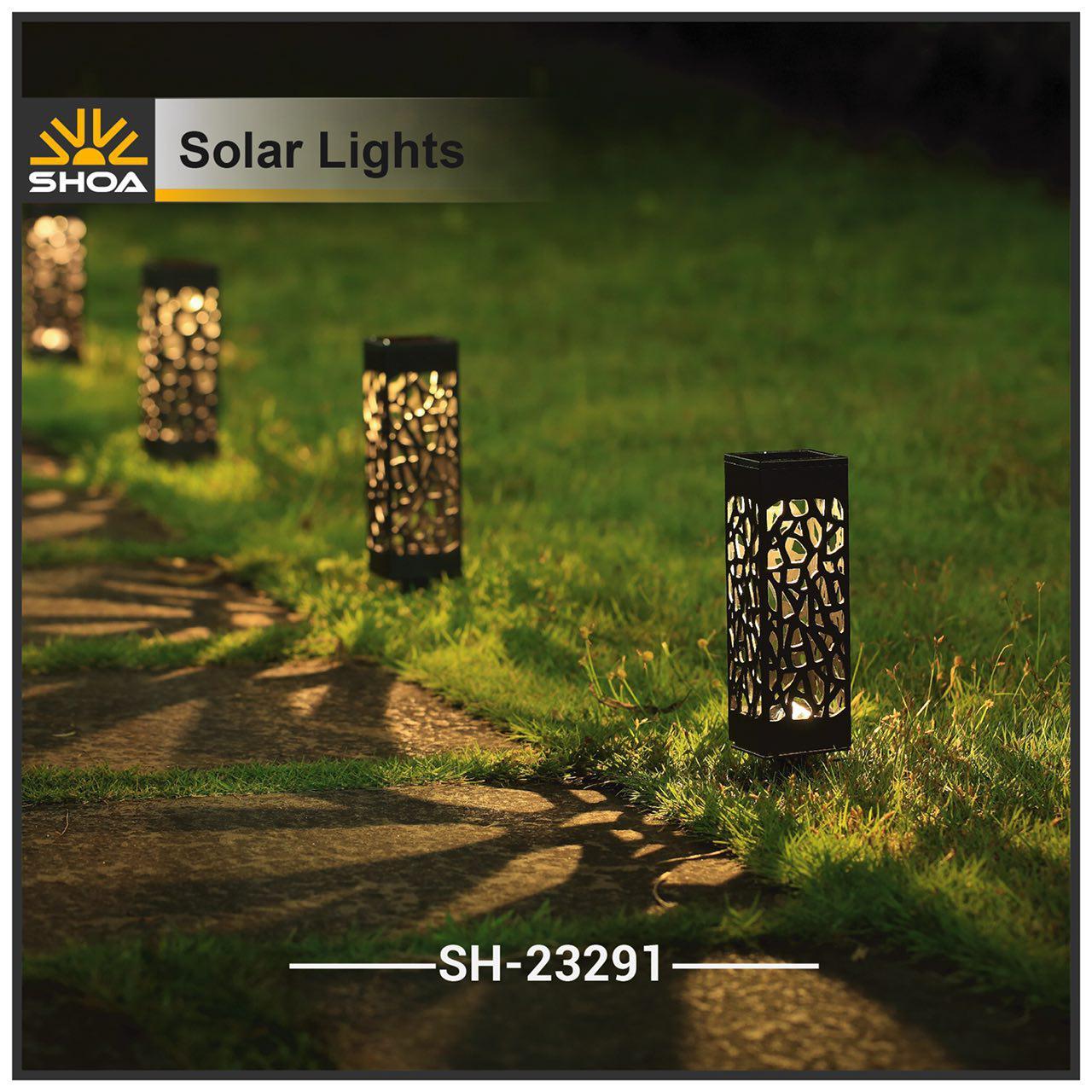 چراغ چمنی خورشیدی sh-23291 شعاع الکتریک
