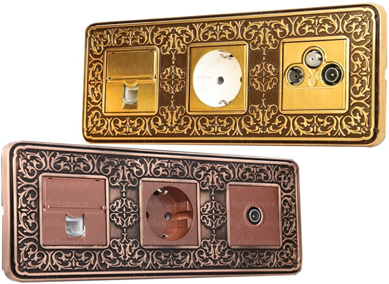 کلید و پریز آنتیکو - کادر سه خانه کلید و پریز آنتیکو