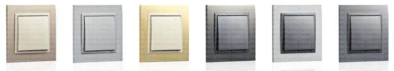 کلید و پریز ایفاپل مدل metallo - کلید و پریز efapel مدل metallo