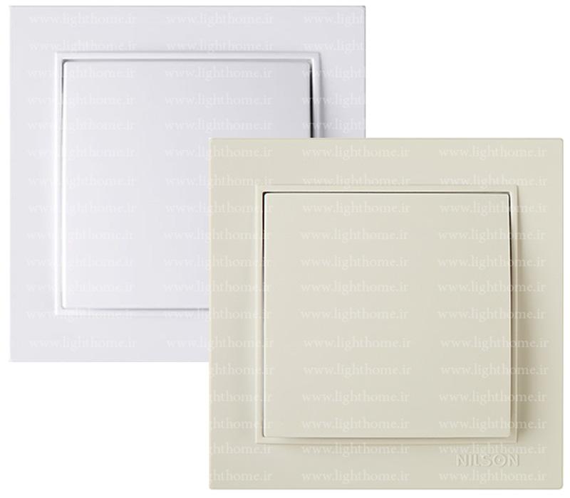 کلید و پریز نیلسون مدل thor سفید و کرم - کلید و پریز nilson مدل thor سفید و کرم