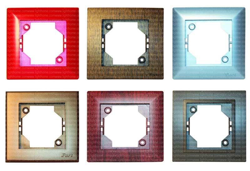 کلید و پریز پارت الکتریک رنگی - کلید و پریز رنگی پارت