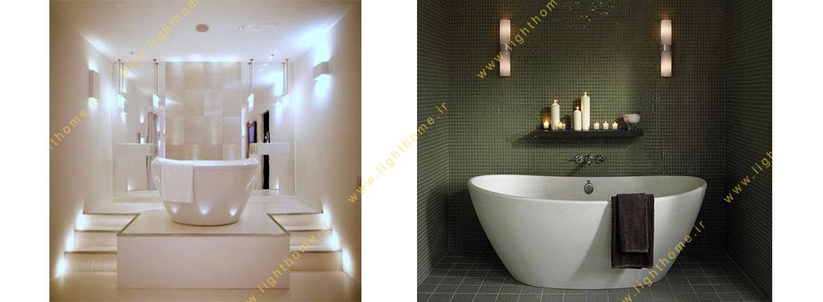چراغ دیواری حمام