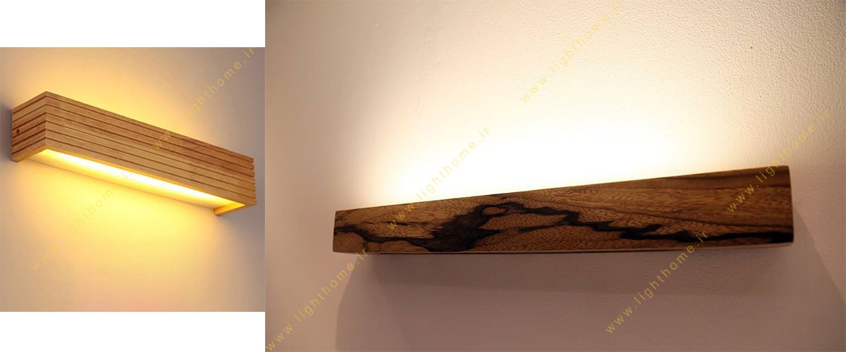 چراغ دیواری چوبی ال ای دی