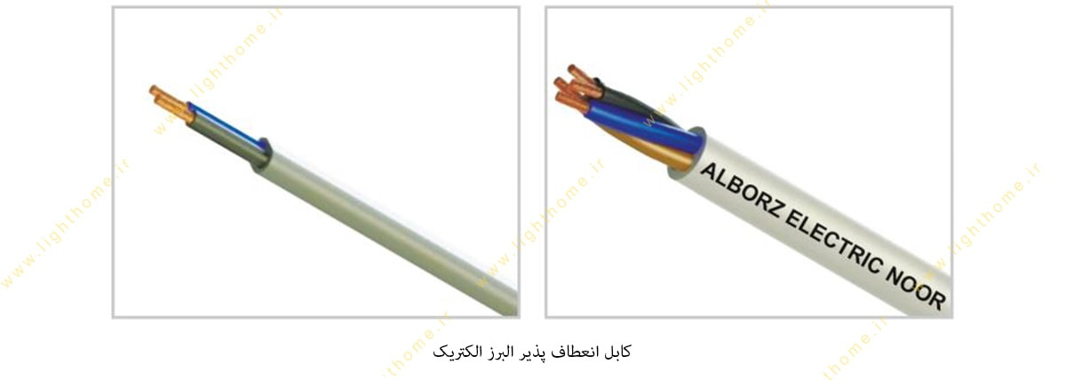 کابل انعطاف پذیر البرز سیم و کابل البرز