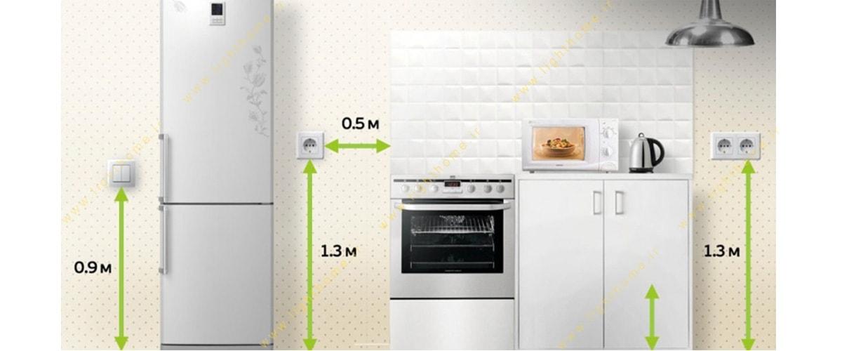 استاندارد نصب کلید و پریز در آشپزخانه