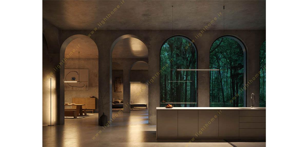 نورپردازی فضای داخلی ساختمان