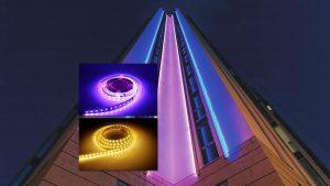 تجهیزات پر استفاده در نورپردازی نمای ساختمان – ریسه نوری