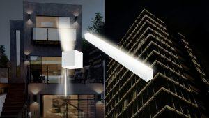 تجهیزات پر استفاده در نورپردازی نمای ساختمان – چراغ دیواری و چراغ خطی