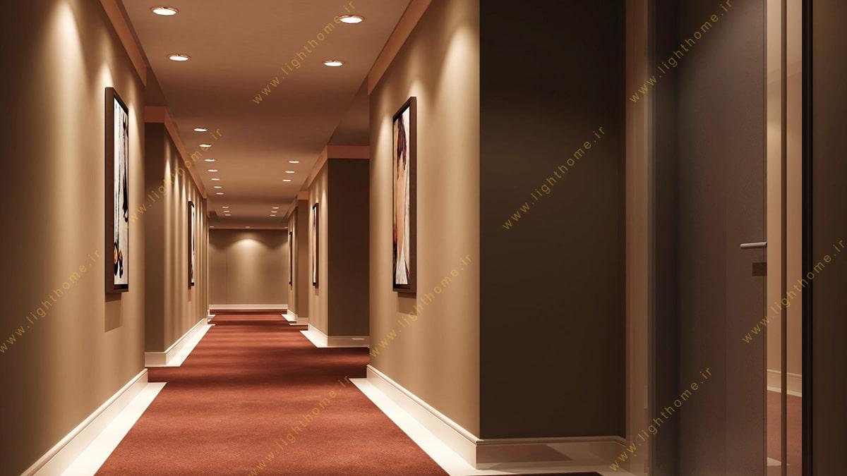نورپردازی راهرو و مشاعات هتل