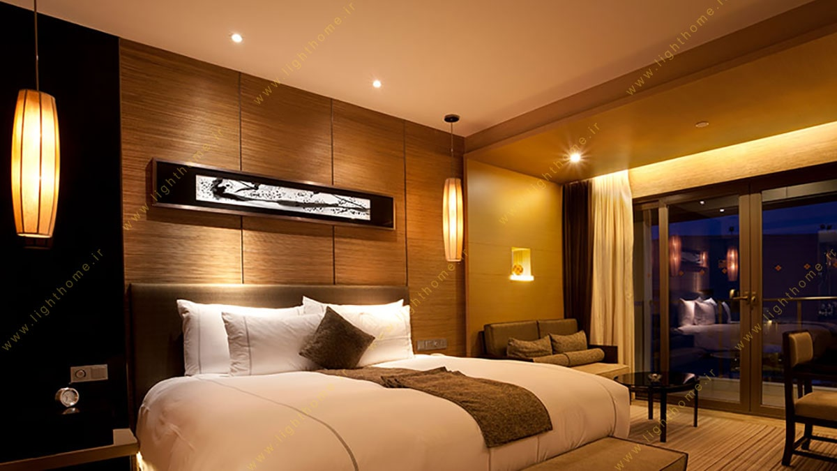 نورپردازی اتاق هتل